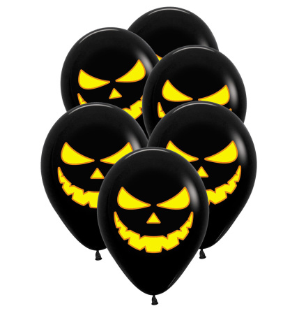 Ballonger, pumpa skräck 6 st