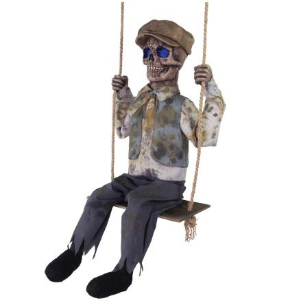 Prop animerad, gungande skelett