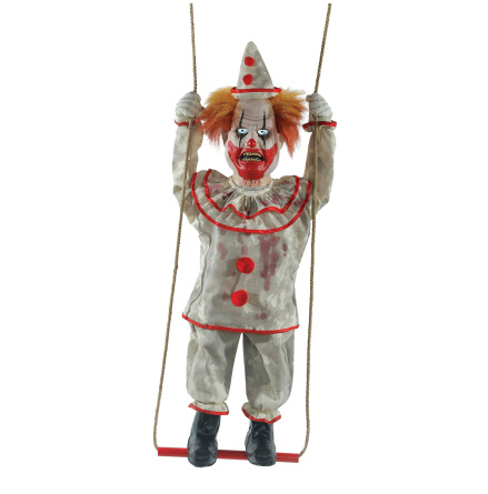 Prop animerad, stående clown på gunga