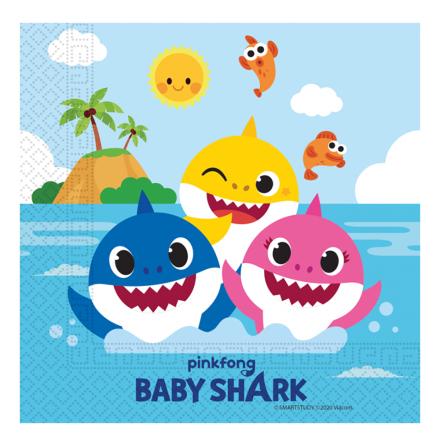 Servetter, Baby Shark 20 st