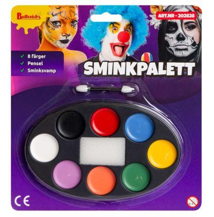 Sminkpalett, 8 färger
