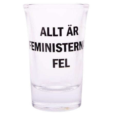 Snapsglas, Allt är feministernas fel