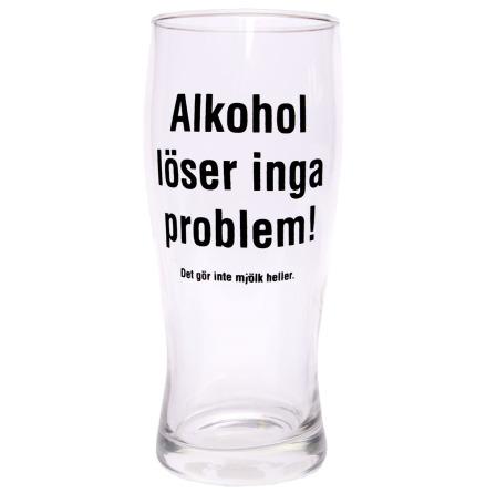 Ölglas, alkohol löser inga