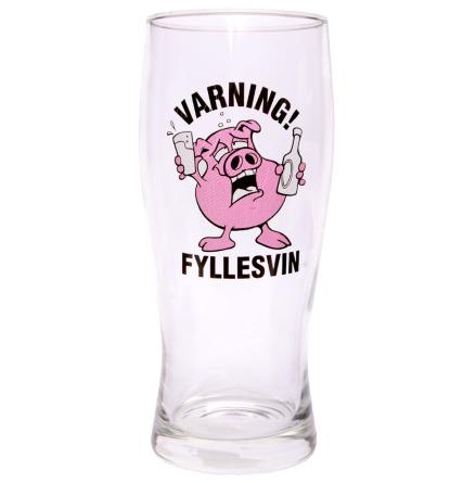 Ölglas, varning fyllesvin