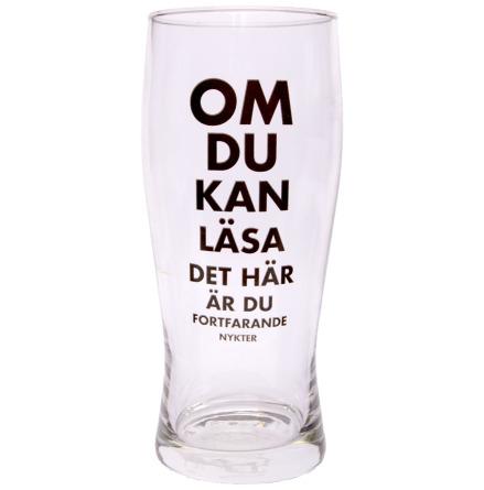 Ölglas, om du kan läsa detta