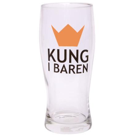Ölglas, kung i baren