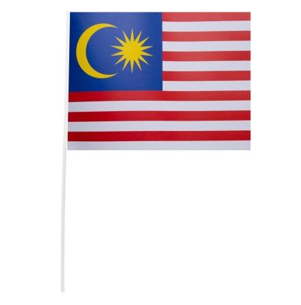 Pappersflagga, Malaysia 27x20 cm