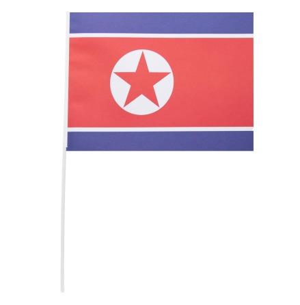 Pappersflagga, Nordkorea 27x20 cm