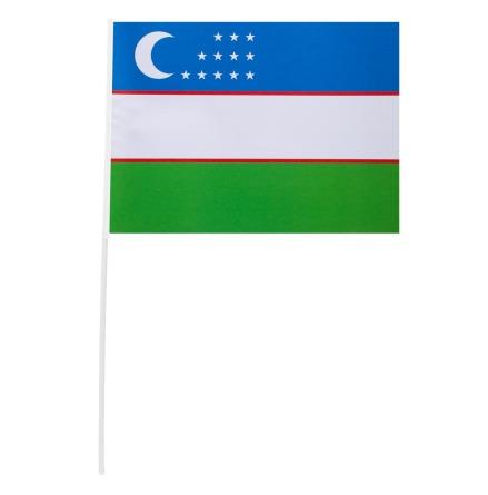 Pappersflagga, Uzbekistan 27x20 cm