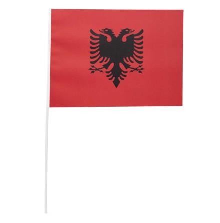 Pappersflagga, Albanien 27x20 cm