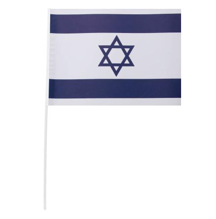 Pappersflagga, Israel 27x20 cm