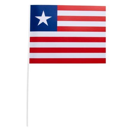 Pappersflagga, Liberia 27x20 cm