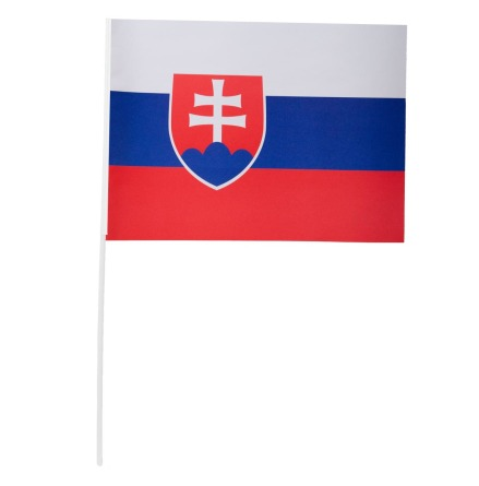 Pappersflagga, Slovakien 27x20 cm