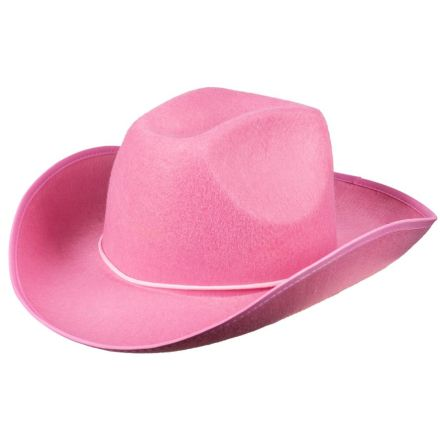 Cowboyhatt, rodeo rosa