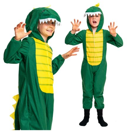 Barndräkt, dinosaurie 110/116 cl